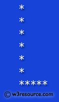 Python Exercise: Print alphabet pattern L
