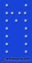 Python Exercise: Print alphabet pattern M