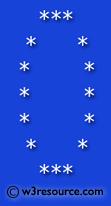 Python Exercise: Print alphabet pattern O