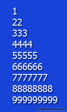 Python Exercise: Construct the following pattern, using a nested loop number