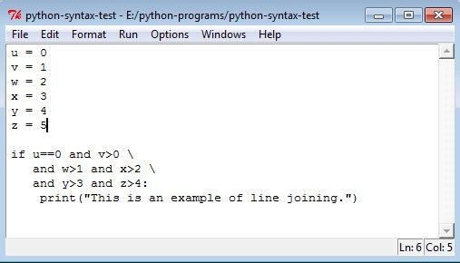 Python lines breaking rule
