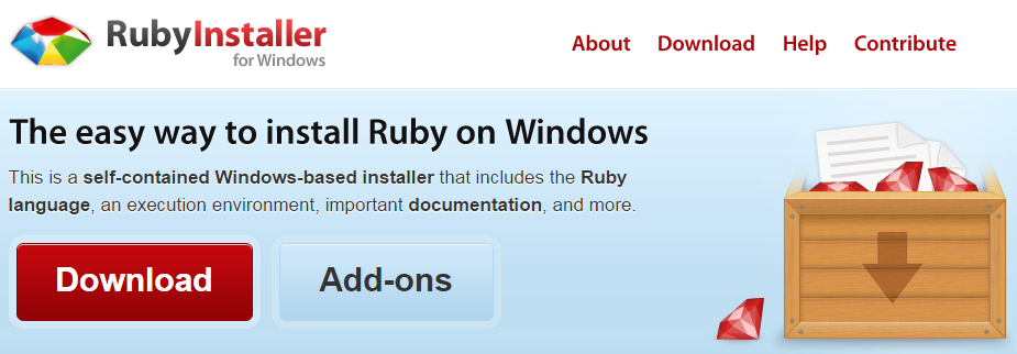 ruby installer windows