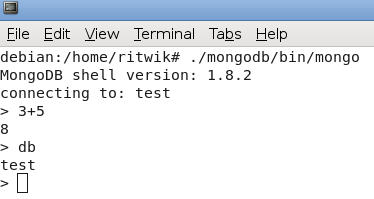 run mongo shell linux2
