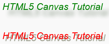 HTML5 canvas shadow on text