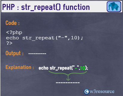 php-string-str_repeat()