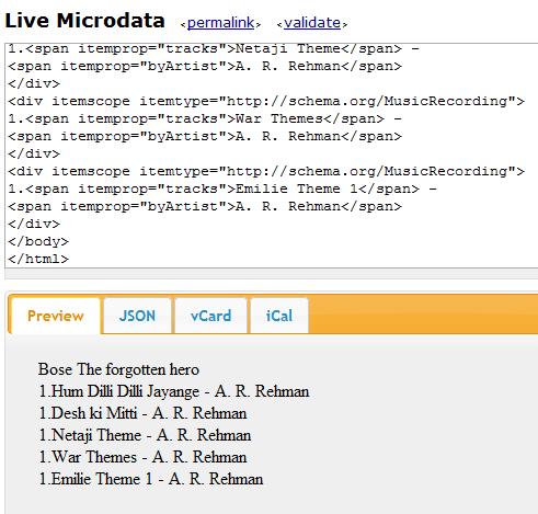 testing the example code of MusicPlaylist schema