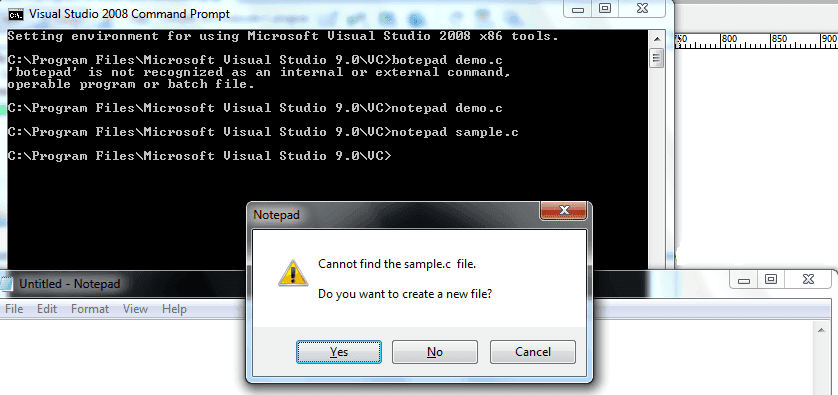 visual studio command prompt prompt