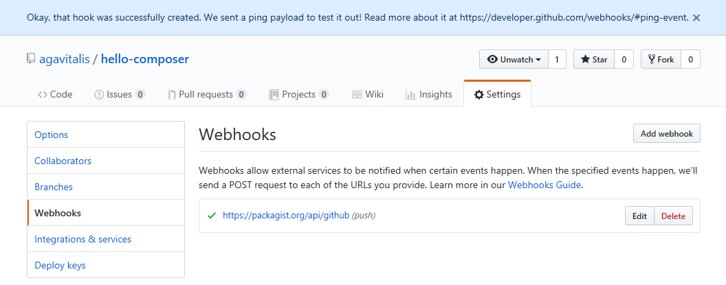 Activating webhook on github-2